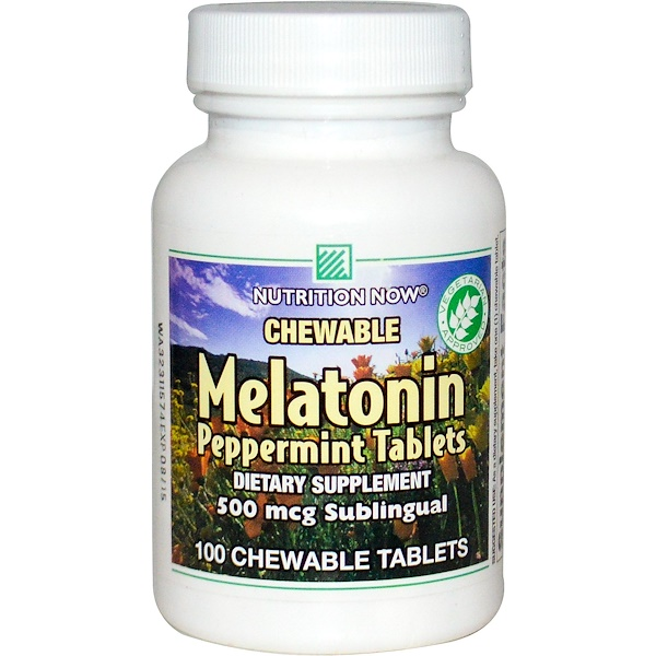Nutrition Now, Melatonin, Peppermint Tablets, 100 Chewable Tablets (Discontinued Item)