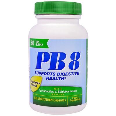 PB8 With Lactobacillus & Bifidobacterium, 120 Vegetarian Capsules mag 07 the ultimate oxygenating digestive system cleanser 120 vegetarian capsules