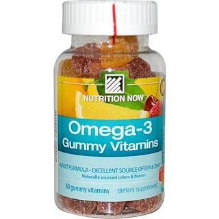 Nutrition Now, Omega-3 Gummy Vitamins, Adult Formula, 60 Gummy Vitamins
