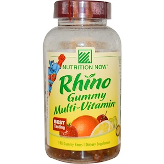 Nutrition Now, Rhino Gummy Multi-Vitamin, 190 Gummy Bears