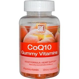 Nutrition Now, CoQ10 Gummy Vitamins, Peach Flavor, 60 Gummy Vitamins