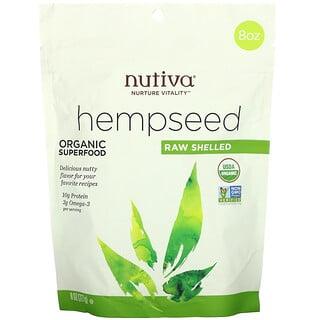 Nutiva, Органическое конопляное семя, сырое, очищенное, 227 г (8 унций)