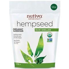Nutiva, بذور القنب، سوبر فود عضوي، خام و مقشر، 12 أونصة (340 جم)