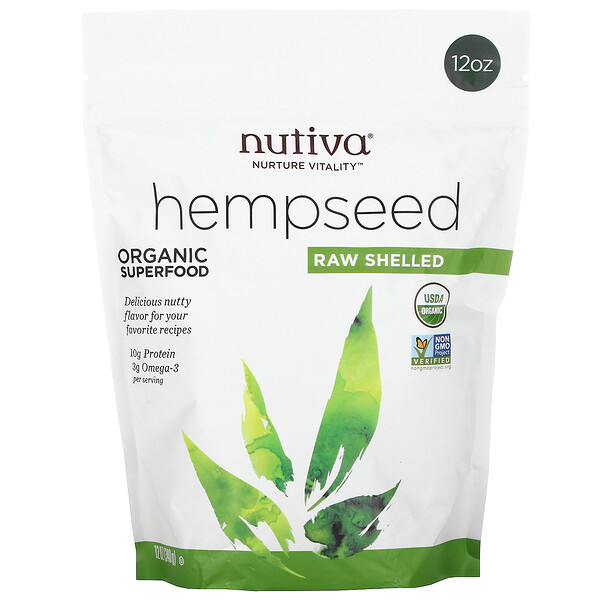Hempseed Raw Shelled, 12 oz (340 g)
