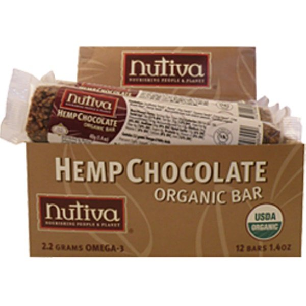 Nutiva, Hemp Chocolate Bar, 12 Bars, (40 g) Each (Discontinued Item)
