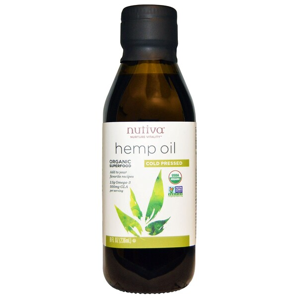 Nutiva, Organic, Hemp Oil, Cold Pressed, 8 أوقية سائلة (236 مل)
