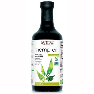Nutiva, Organic Hemp Oil, Cold Pressed, 16 fl oz (473 ml)