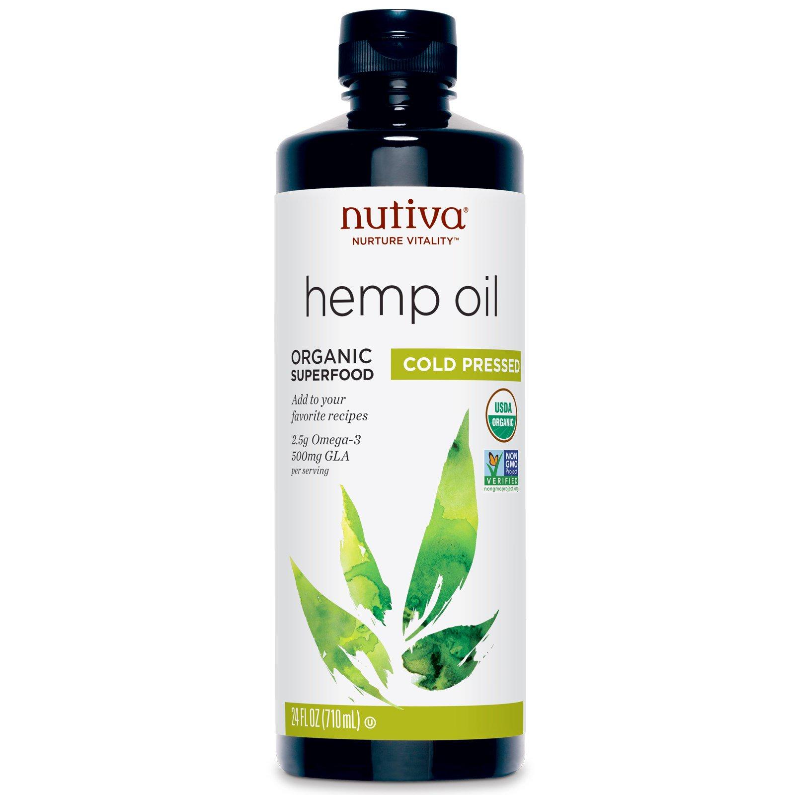 Nutiva, Organic Hemp Oil, Cold Pressed, 24 Fl Oz (710 Ml