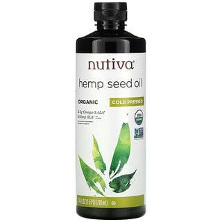 Nutiva, Organic Hemp Seed Oil, Cold Pressed, 24 fl oz (710 ml)