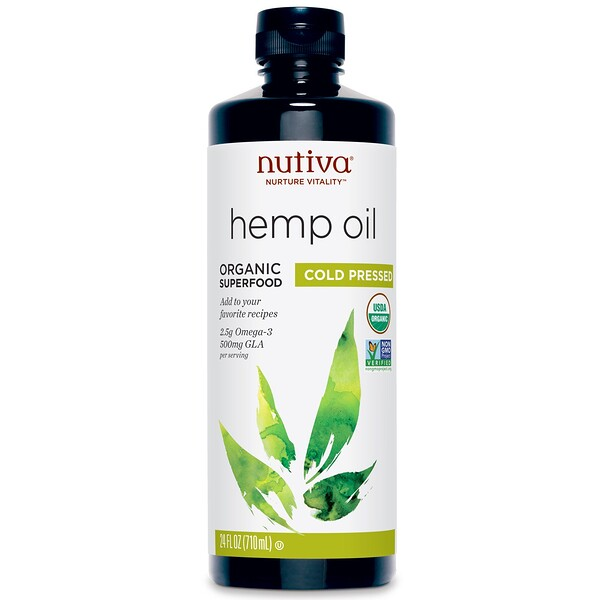Nutiva, Organic Hemp Oil, Cold Pressed, 24 fl oz (710 ml)