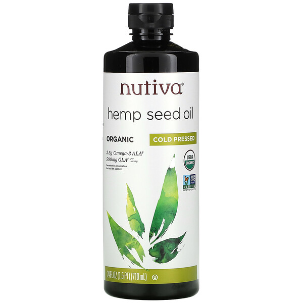 Nutiva, Organic Hemp Seed Oil, Cold Pressed, 24 fl oz (710 ml)