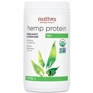 Nutiva, Organic Superfood, Hemp Protein, 15 G, 16 oz (454 g)