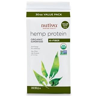 Nutiva, Organic Hemp Protein, Hi-Fiber, 1.87 lbs (851 g)