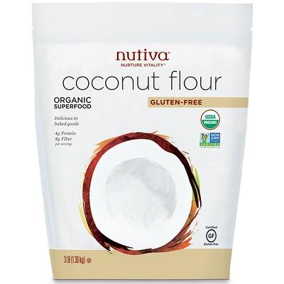 Купить Organic, Coconut Flour, Gluten Free, 3 lb (1.36 kg)