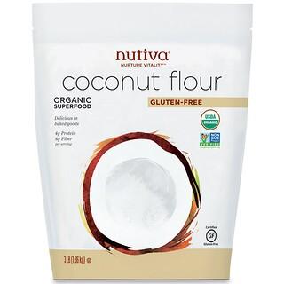 Nutiva, Coconut Flour, Gluten Free, 3 lb (1.36 kg)