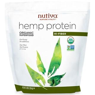 Nutiva, Organic, Hemp Protein Hi-Fiber, 3 lbs (1.36 kg)