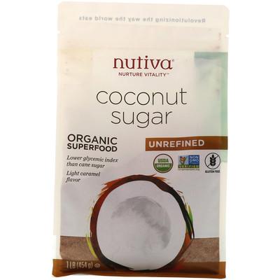Купить Органический кокосовый сахар, 454г (1фунт)