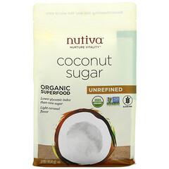 Nutiva, 有機椰糖,未精製,1 磅(454 克)