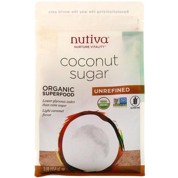 Nutiva, Azúcar de coco orgánico, 454g (1lb)