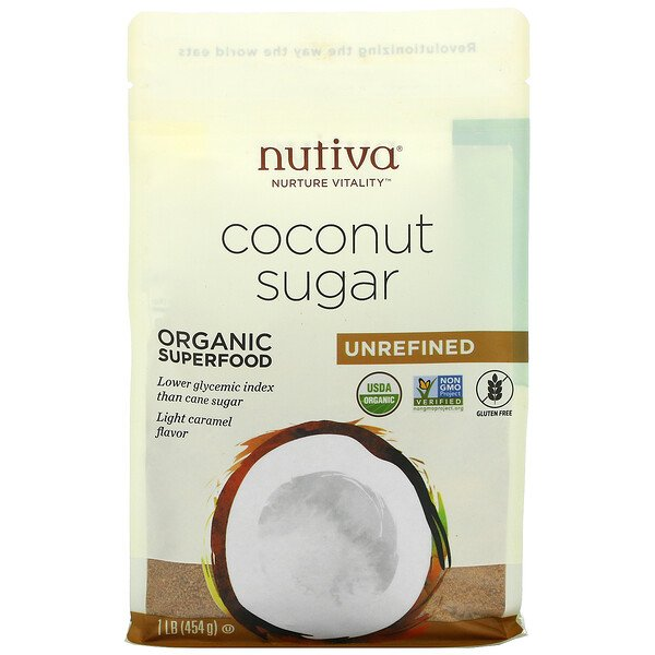 Organic Coconut Sugar, Unrefined, 1 lb (454 g)