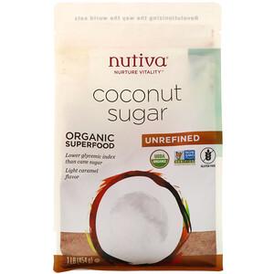 Нутива, Organic Coconut Sugar, 1 lb (454 g) отзывы