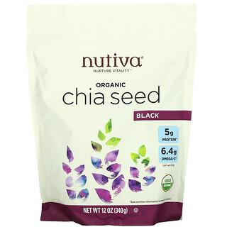 Nutiva, органические семена чиа, черные, 340г (12унций)