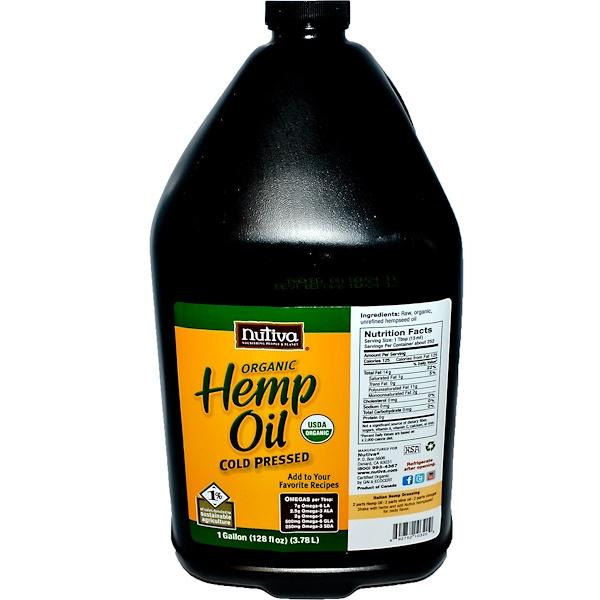 Nutiva, Organic Hemp Oil, 128 fl oz (3.78 L) (Discontinued Item)