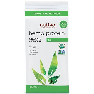 Nutiva, Organic Super Food, Hemp Protein, 15 G, 30 oz (851 g)