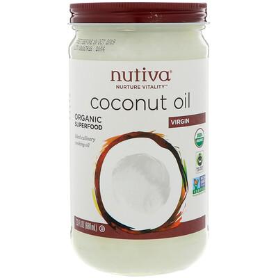 Купить Nutiva Органическое кокосовое масло, Virgin, 23 жидкие унции (680 мл)