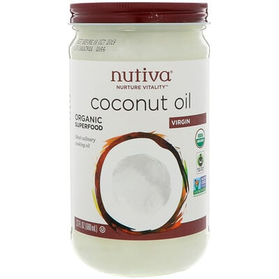 Nutiva 有機椰子油,初榨,23 液量盎司(680 毫升)