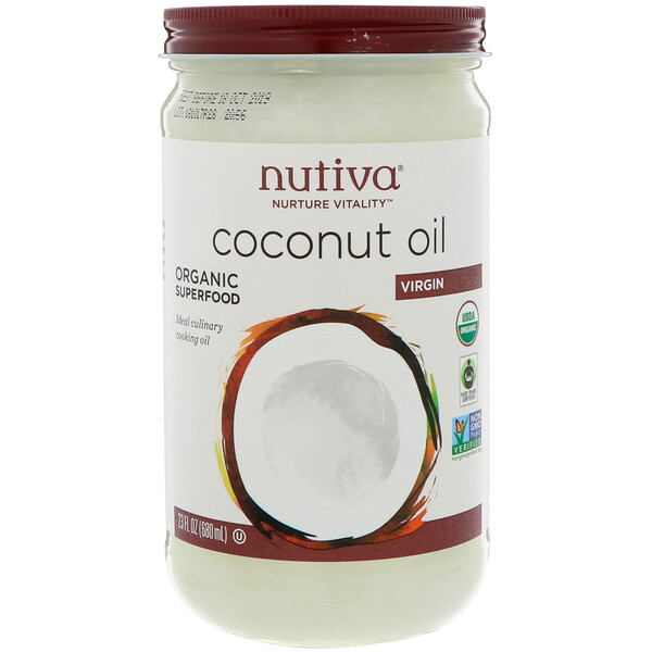 Nutiva, Bio-Kokosöl, nativ, 23 fl oz (680 ml)