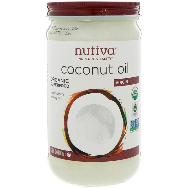 Organic Coconut Oil, Virgin, 23 fl oz (680 ml)
