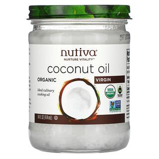 Nutiva, органическое кокосовое масло, первого отжима, 414мл (14жидк.унций)