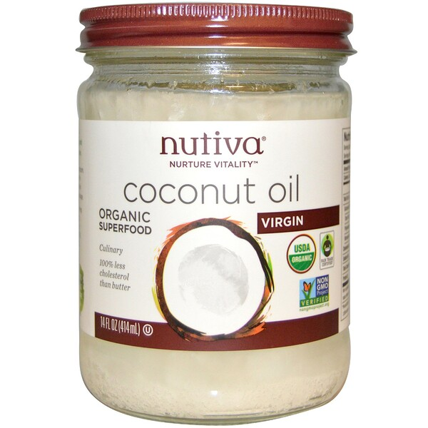 Organic Coconut Oil, Virgin, 14 fl oz (414 ml)
