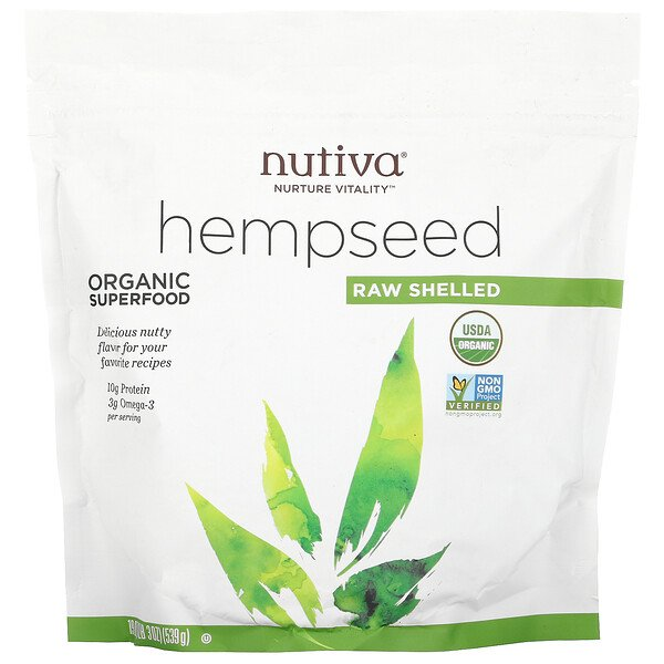 Organic Hempseed, Raw Shelled, 19 oz (539 g)