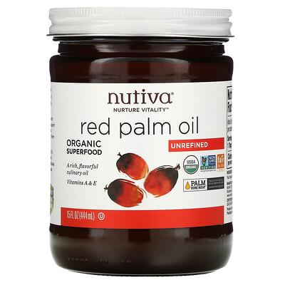 Купить Nutiva органическое масло помадной пальмы, нерафинированное, 444 мл (15 жидких унций)