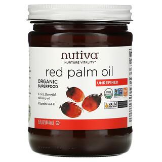 Nutiva, Red Palm Oil, Unrefined, 15 fl oz (444 ml)