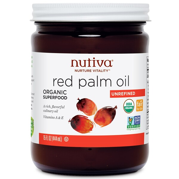 Organic Red Palm Oil, Unrefined, 15 fl oz (444 ml)
