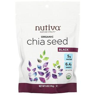 Nutiva, Graine de chia bio, noire, 6 oz (170 g)