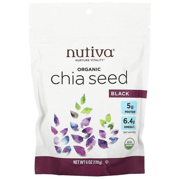 Semilla de Chia Orgánica, Negro, 6 oz (170 g)