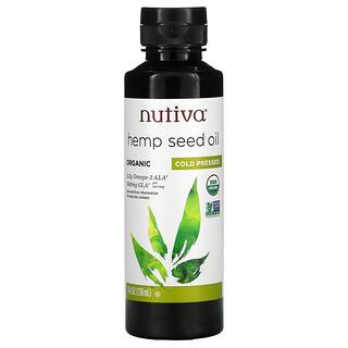 Nutiva, Huile de graine de chanvre biologique, Pressée à froid, 236ml