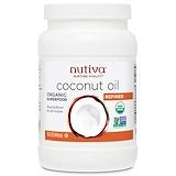 Отзывы о Nutiva, Органическое кокосовое масло, рафинированное, 15 жидких унций (444 мл)