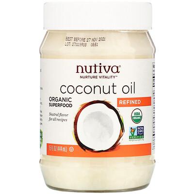 Купить Nutiva органическое кокосовое масло, рафинированное, 444 мл (15 жидких унций)