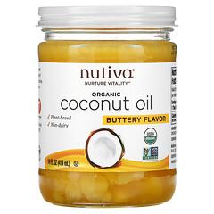 Nutiva, 有機椰子油,黃油風味,14 液量盎司(414 毫升)