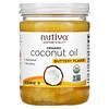 Nutiva, オーガニックココナッツオイル、バターフレーバー、414 ml(14 fl oz)