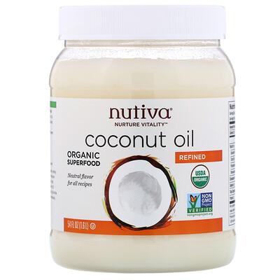 Купить Nutiva Органическое кокосовое масло, рафинированное, 1, 6л (54жидк.унции)