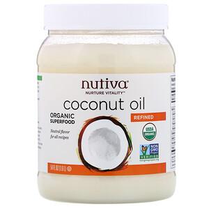 Нутива, Organic Coconut Oil, Refined, 54 fl oz (1.6 l) отзывы