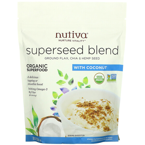 Organic Superseed Blend, With Coconut, 10 oz (283 g)