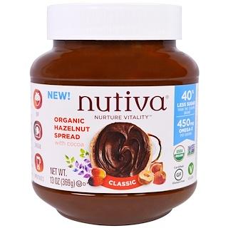 Nutiva, 유기농 헤이즐넛 스프레드, 클래식, 13oz(369g)