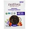 Nutiva, オーガニック・ヘーゼルナッツ・スプレッド、ダーク、お試しサイズ、0.78 oz (22 g) (Discontinued Item)